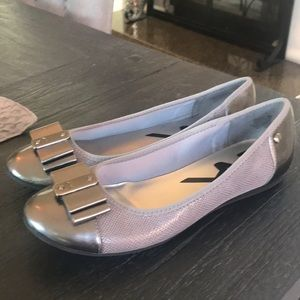 Gray and pewter Anne Klein flats